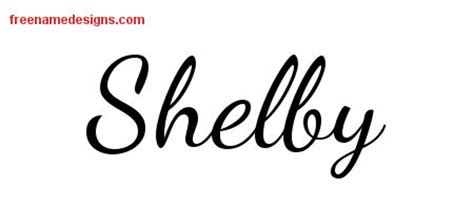 Lively Script Name Tattoo Designs Shelby Free Printout Free Name Designs Shelby Lettering Template