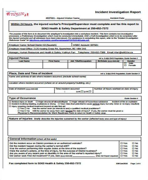 preliminary investigation report template preliminary investigation report template 28 images