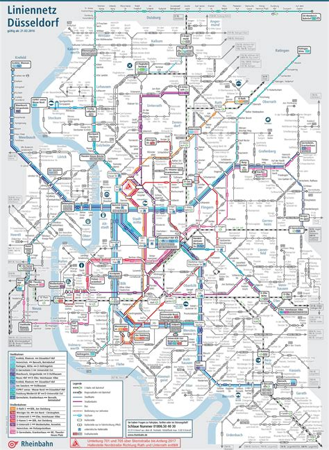 dusseldorf map d 252 sseldorf metro and rail map