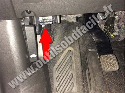 obd connector location  chevrolet trax