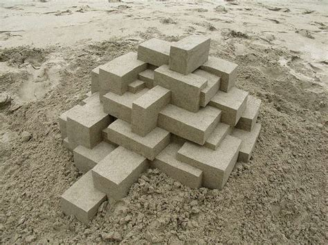amazing geometric forms sculpted with sand my modern met geometric sand castles calvin seibert