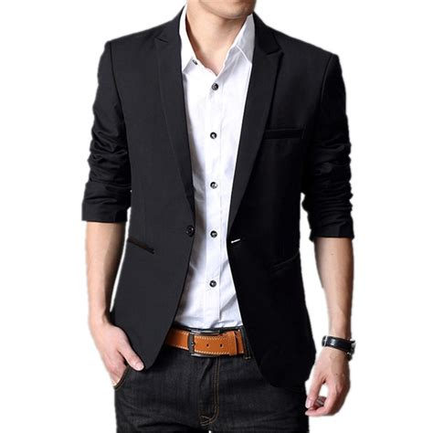 Blazer Style Black 59 2016 fashion stylish casual slim formal one button suit blazer coat jacket tops black