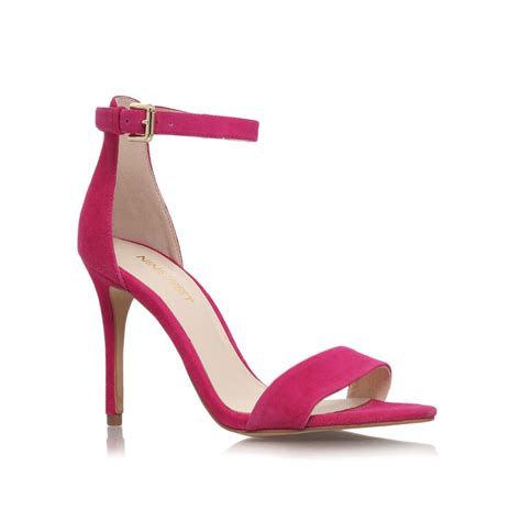 pink high heel sandals nine west mana high heel sandals in pink lyst