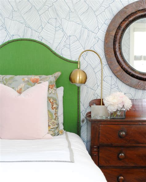 green upholstered headboard video how to add nailhead trim to furniture the