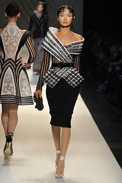 Spotlight On Tehya Couture In The City Fashion by Jean Paul Gaultier Couture 2009 Thefashionspot