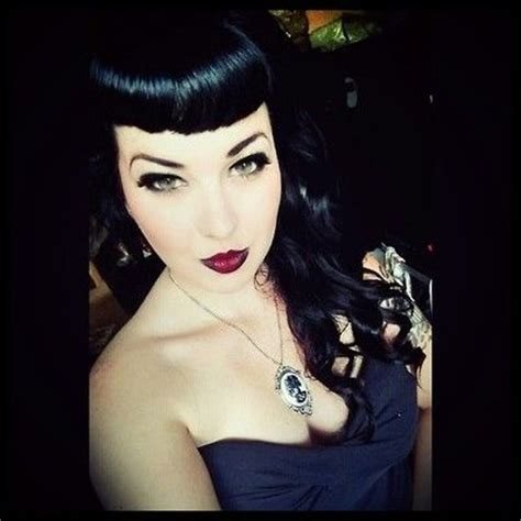 Rockabilly Bang Curl | bettie bangs hair ideas pinterest blog and bangs
