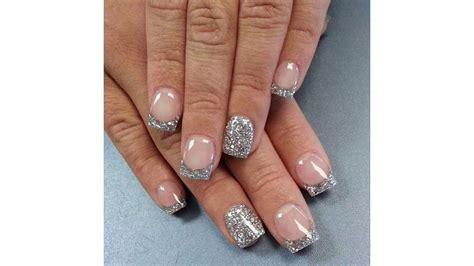 imagenes de uñas blancas con plata 30 incre 237 bles dise 241 os en u 241 as decoradas blancas con plata