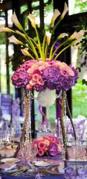 purple wedding centerpieces memorable wedding pretty purple wedding flowers
