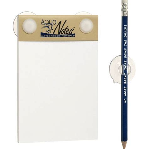Shower Notepad by Waterproof Notepad For The Shower By Gatherer