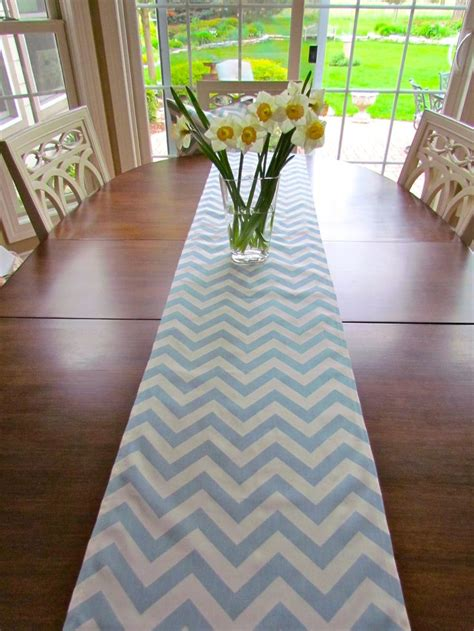 spa blue table runner 17 best ideas about chevron table on wood