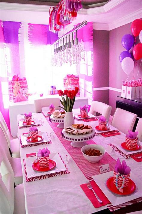 barbie themed birthday party kara s party ideas glamorous barbie birthday party