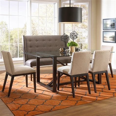settee dining set bemodern argo contemporary dining set with settee