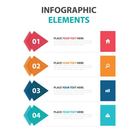 abstract colorful triangle business infographics elements