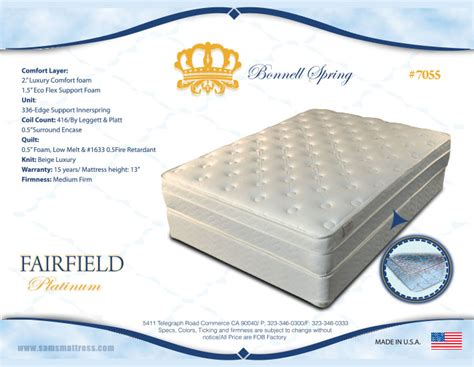 Mattress Fairfield Ca by Fairfield Platinum Sams Mattresssams Mattress