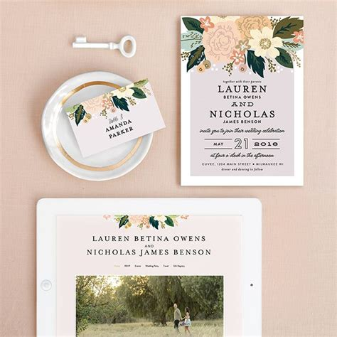 minted wedding invitations 2 minted wedding invitations and website weddings by funjet