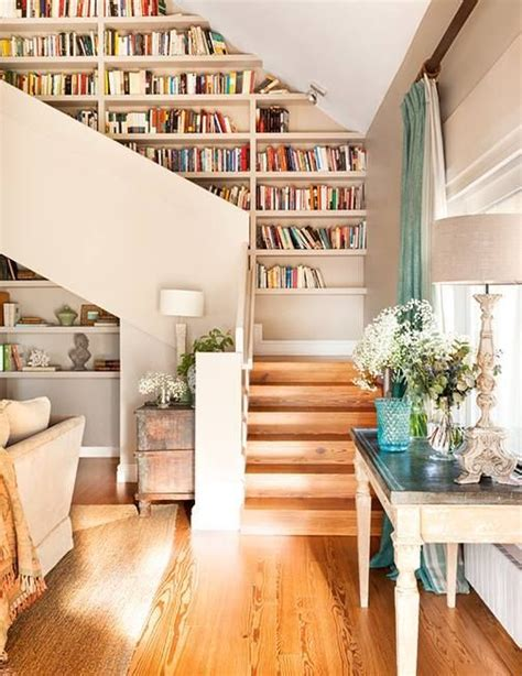 top 25 best staircase bookshelf ideas on
