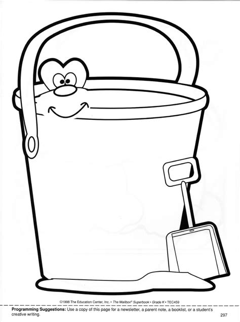 bucket filler coloring page az coloring pages