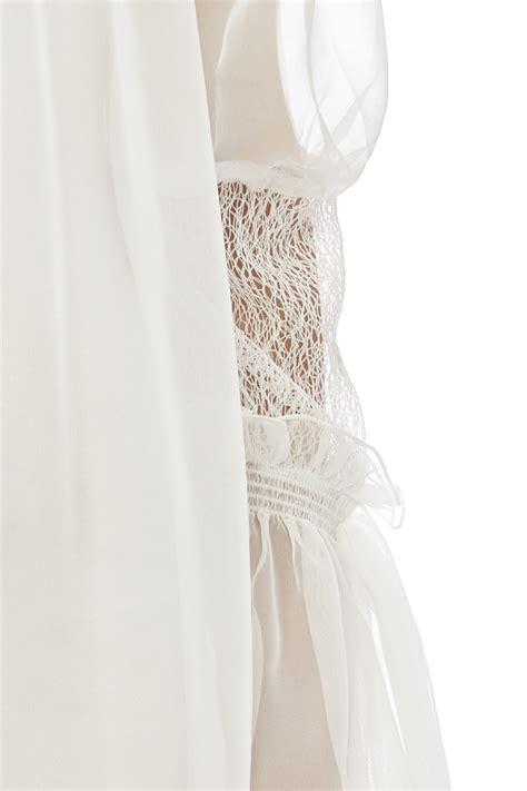 mock designer wedding dresses cq by cq mock neck sheer dress from manhattan by dor l dor