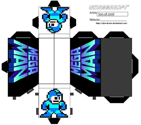 Megaman Papercraft - cubeecraft megaman stand by of jorel by of jorel