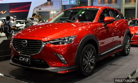 mazda th mazda cx 3 launched in thailand from rm99k 137k