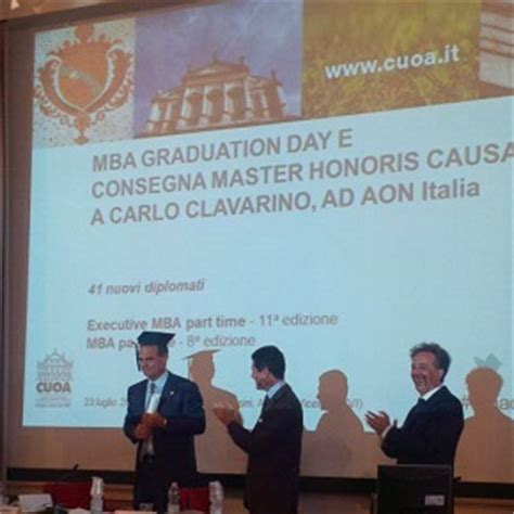 Graduate With Honors Apus Mba by Cuoa Business School Master Honoris Causa A Carlo