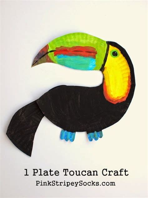 How To Make Rainforest Animals Out Of Paper - toucan craft on chameleon craft gorilla craft