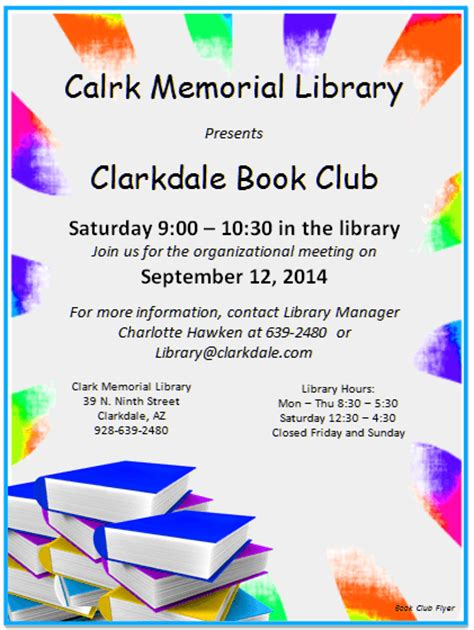 club flyers template flyers for book club flyers www gooflyers
