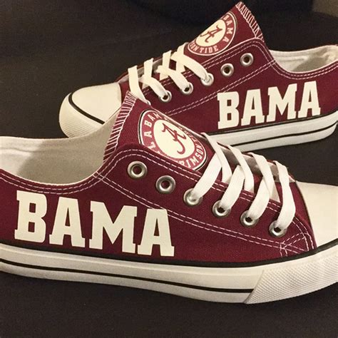alabama football shoes alabama crimson tide handmade converse alabama crimson