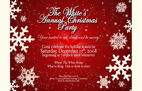 party and birthday invitation invitation to the christmas party