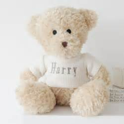 waffle teddy bear personalised baby gifts my 1st years