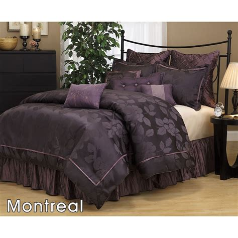 discount comforter sets 7 pc modern purple black