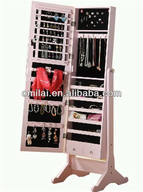 free standing jewelry armoire with mirror free standing jewelry armoire with mirror home ideas