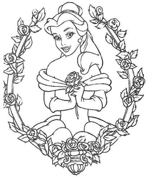 colouring sheets disney princess belle   girls