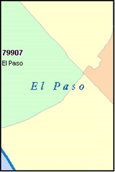 zip code map el paso tx el paso county texas digital zip code map