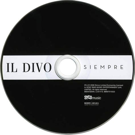 il divo siempre album car 225 tula cd de il divo siempre portada