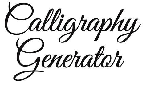Free Online Calligraphy Generator Windows Mac Ipad Arts Crafts Ideas Font Template Maker