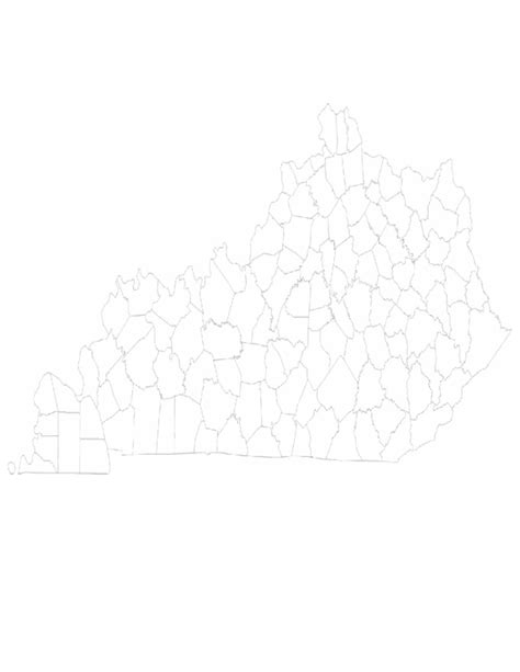ky map forms blank kentucky county map free
