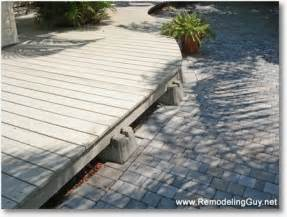 Deck foundation blocks http www remodelingguy net 2009 06 details to