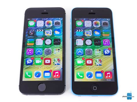 apple iphone 5s vs apple iphone 5c phonearena