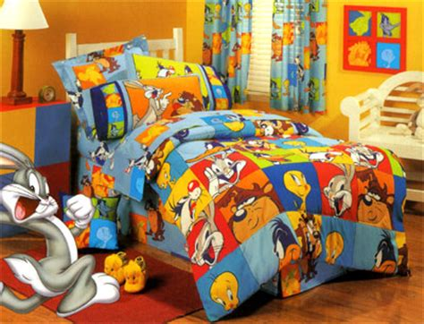 Looney Tunes Crib Set by Gathered Dust Ruffle Bed Skirt For Cribs And Toddler Beds
