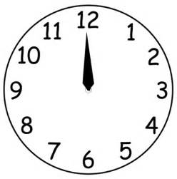 printable clock face without hands clipart best