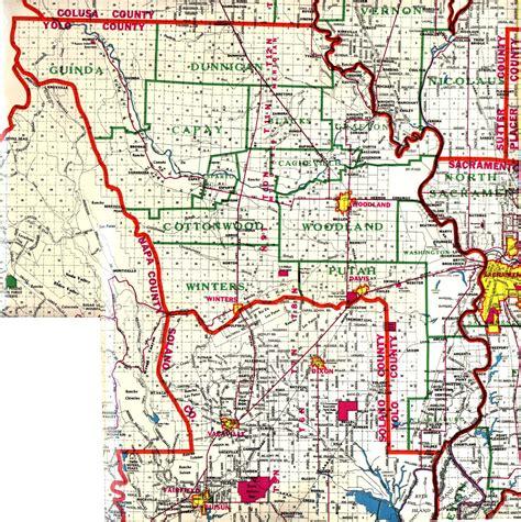 map of yolo county california yolo county california map