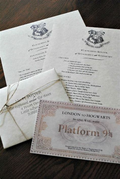 Harry Potter Acceptance Letter Tutorial Diy How To Make A Hogwarts Acceptance Letter Harry Potter
