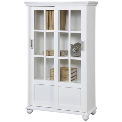 Ameriwood Furniture Aaron Bookcase With by 2019 White Bookcases With Doors