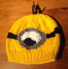 knitting pattern minion despicable me despicable me minion hat knitting pattern the knit guru