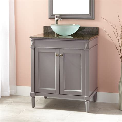 30 vessel sink vanity 30 quot chapman vessel sink vanity gray bathroom