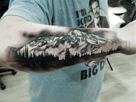 mountain scene tattoo 50 mountain tattoos tattoofanblog