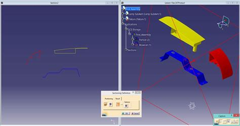 catia section view use cross sectioning to more easily work with large models