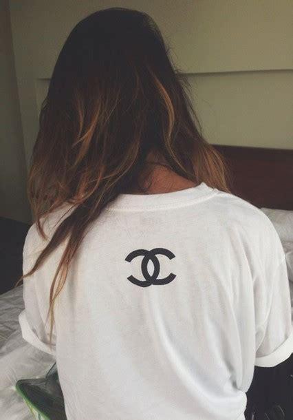 Coco Channel Rainbow Tshirt t shirt chanel white wheretoget