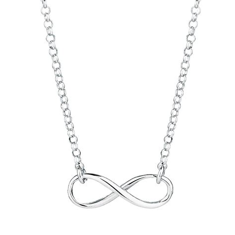 Necklace In Sterling Silver infinity necklace in sterling silver